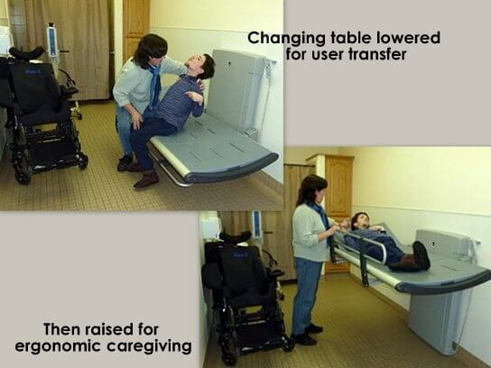 Pressalit Care Adult Changing Table Hi Lo Folding MAXAbility - Adult changing table