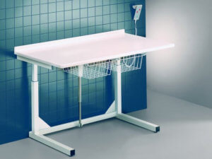 Picture of Freestanding School Changing Table with Baskets