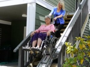 stair climbing wheelchair with Stair Trac