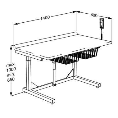 Picture of Freestanding Child Size Changing Table