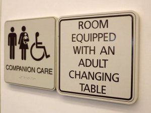 Family/Universal Restroom Changing Tables